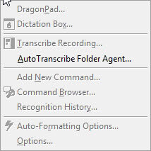 DragonBar Tools menu missing administrative options