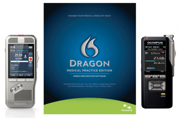 Dragon Medical Practice Edition with Philips and Olympus voice recorders