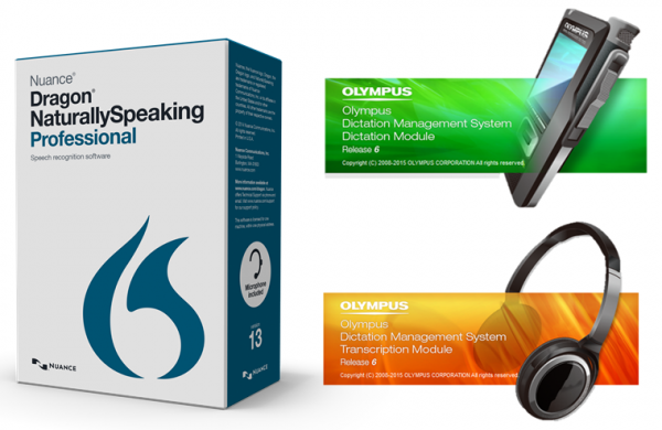 Dragon Naturally Speaking Pro 13 and Olympus ODMS R6 Dictation and Transcription Modules