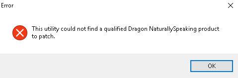 Dragon Medical Practice Edition 2 update error message