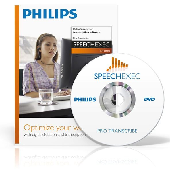 Philips SpeechExec Pro Transcribe software and disc
