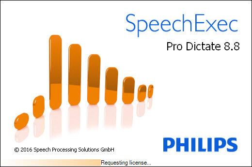 SpeechExec splash screen