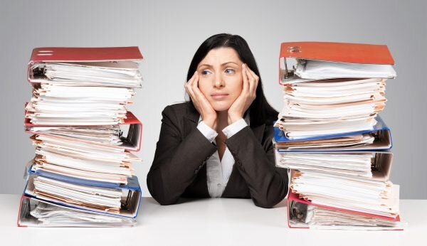 Worried attorney with paperwork